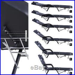 Massage Table Adjustable SPA Bed Beauty Salon Folding Chair Facial Tattoo Black