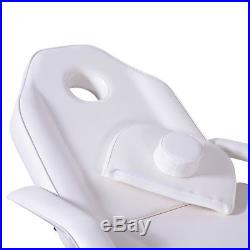 Massage Table Adjustable SPA Bed Beauty Salon Folding Chair Facial Tattoo White