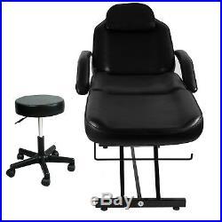 Massage Table Professional Adjustable Massage Bed Barber Chair Salon Free Stool