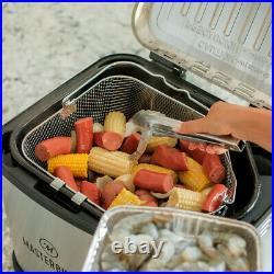 Masterbuilt Butterball XL 3-in-1 Electric Deep Fryer Boiler Steamer Cooker, 10L
