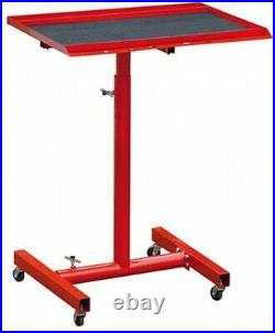 Mechanic Rolling Tool Tray Adjustable Utility Cart Stand Work Table Sturdy Steel