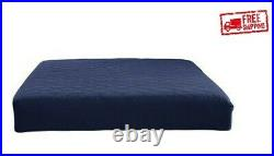 Memory Foam Mattress Comfort Polyester Quilted Navy Sleep 6 Inch Multiple Size