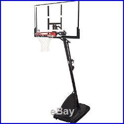 Modern Adjustable Portable Basketball System Spalding Backboard 54 Hoop Net USA