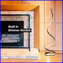 Modern Floor Lamp LED Standing For Living Room Bedroom Pole Light Thin Spiral