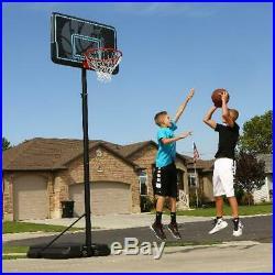 NEW Adjustable Portable Basketball Hoop 44 Inch Impact Outdoor Goal Rim