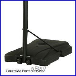 NEW Adjustable Portable Basketball Hoop 46 Inch Courtside Shatterproof