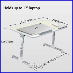 Neetto TB101L Adjustable Laptop Bed Table Portable Standing Desk Large Size