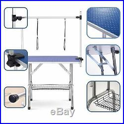 New 36 Large Pet Grooming Foldable Table Dog Cat Adjustable Arm Groom Connect