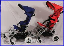 New Child Special Needs Pediatric Stroller Wheelchair Blue Seat 12-14 in/100 lb