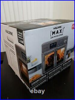 New Kalorik 26-qt. Digital MAXX 10-in-1 Air Fryer Toaster Oven w French Door 9ac