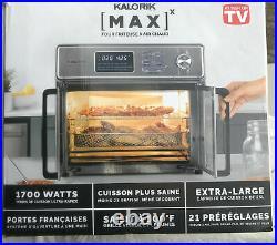 New Kalorik 26-qt. Digital MAXX Air Fryer Toaster Oven AFO 46045 SS