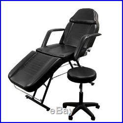 New Massage Table Bed Chair Beauty Portable Adjustable Facial Tattoo Salon Stool