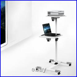 New! Portable Projector Stand Trolley and Laptop / AV Cart, Split-Top Adjustable