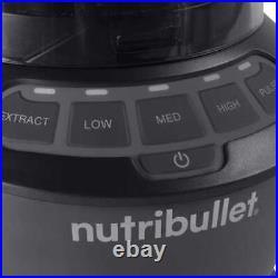 NutriBullet Blender Combo NBF70500 1200 Watts 3 Speeds Single Serve Cup NEW
