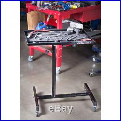 OEMTOOLS 24960 Portable Tear Down Tray Adjustable Tray Height 33-1/2 in. To 49