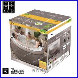 Outdoor Inflatable Spa Tubs Bubble Hot Tub Adjustable Temperature Massage