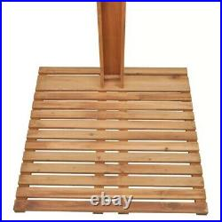 Outdoor Shower Wood Portable Mobile Pressure Adjustable Garden Camping Pool USA