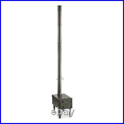 Outdoor Wood Stove 2mm Galvanized Steel Fire With High-temp Adjustable Damper Vent