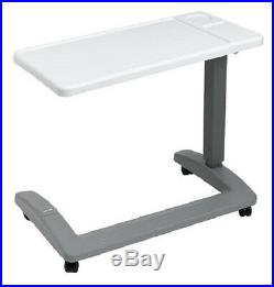 Overbed Table Hospital Mobile Adjustable Bed Medical Wheeled Tray Over Rolling