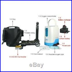Oxygen Concentrator 1-5L/min Adjustable Portable Oxygen Machine for Home Use