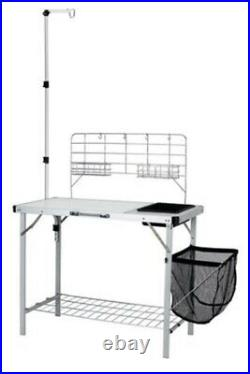 Ozark Trail Portable Camp Kitchen Sink Table withLantern Pole Camping Hunting Fish