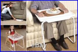 PORTABLE MATE TV DINNER LAPTOP TRAY ADJUSTABLE FOLDING TABLE DESK SOFA BED Gift