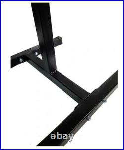 Pair Squat Rack Weight Lifting Adjustable Stands Home Gym Portable Equipment