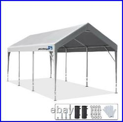 Peaktop Outdoor 10x20ft Carport Adjustable Heights Shed Canopy Car Shelter Tent