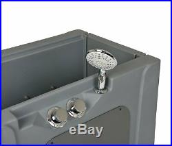 Pet Wash Shower Spa Bath Tub Enclosure withRemovable Shelf and Wheels