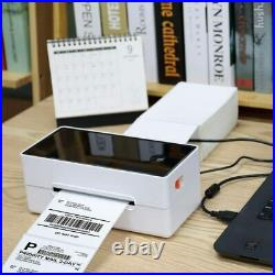 Phomemo 4x6 High Speed Thermal Shipping Label Barcode Printer with Paper and USB
