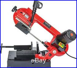Portable 4 Bench Top Metal Band Saw, 2-Speed Pivoting Head Compact Adjustable