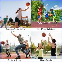 Portable 7.2-9.2FT Height-Adjustable Basketball Hoop System for Kids Youth