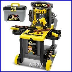 Portable Adjustable 3 in 1 Kids Power Tool Work Bench Set Play Toy Work DIY Set