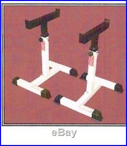 Portable Adjustable Barbell Safety Stands