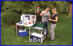 Portable Aluminum Kitchen Coleman Folding For Easy Carrying With Food Prep Area