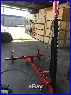 Portable Auto Body Puller Frame Straightener free clamps + 10,000 psi foot pump