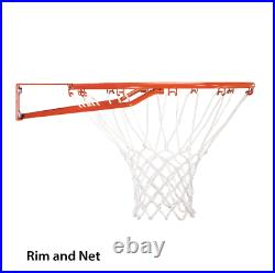 Portable Basketball Hoop Goal Adjustable 44 Backboard Pole Outdoor Sport Black