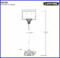 Portable Basketball Hoop Goal Adjustable 44 Pro Court Outdoor Sport Brand New