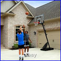 Portable Basketball Hoop Spalding 54 Polycarbonate System Steel Rim