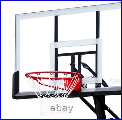 Portable Basketball Hoop Spalding 54'' Shatter-proof Polycarbonate Exact Height