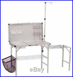 Portable Camp Kitchen Folding Table Rack Sink Dish Travel Compact Outdoor Cook