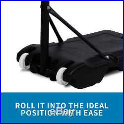 Portable Height Adjustable Basketball Hoop Stand Backboard System WithWheels
