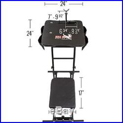 Portable Hunting Shooting Bench Seat & Pocket Adjustable Table Rifle Gun Rest