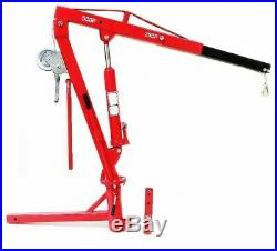 Portable Hydraulic Receiver Hitch Mounted Crane Lift Adjustable Leg 500lbs