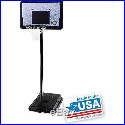 Pro Court 44 Portable Adjustable Basketball Hoop System Goal Backboard Outdoor