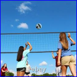 Professional Volleyball Net Set Adjustable Height Portable with Poles Ball Pump
