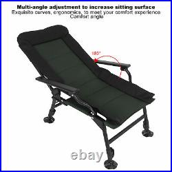 Reclining Folding Chair Footrest Mesh Portable Camping Outdoor Beach fishing Na
