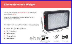 Red Light Therapy Device 300W LED Red/Near-Infrared 660nm/850nm with Hanging Kit