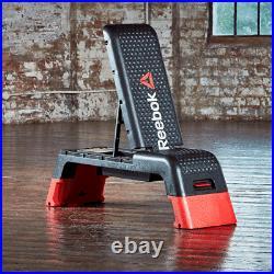 Reebok Studio Deck Aerobic Step Gym Platform Incline /Decline Flat Workout Bench