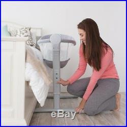 Rocking Baby Bassinet Swaddle me by Bed Sleeper Height Adjustable Infant Cradle